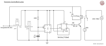 remote control light circuit diagram using 555 timer circuits circuit diagram of remote control light