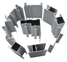 china hollow single glass aluminum window extrusion profiles with fluorocarbon powder spray coating supplier