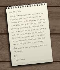 Dear Ms Coates Thank You Teachers Letters To Teachers