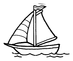 Small Picture Sailboat clipart coloring page Pencil and in color sailboat