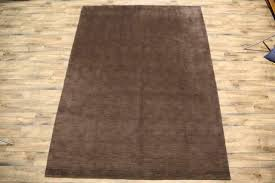 new contemporary solid brown gabbeh oriental hand knotted wool 8x11 area rugs for