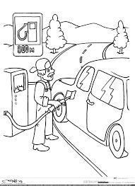 раскраски правила дорожного движения машина заправка