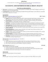 Credit Analyst Resume Essayscope Com