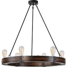 rustic wood iron chandelier closdurocnoir