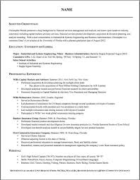 Proper Format Of Resume Resume Template