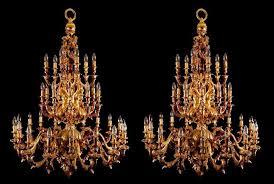 gilt bronze rococo style chandeliers mayfair gallery
