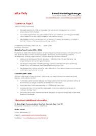 Creative Marketing Resumes Objective For Marketing Resume Example Manager Samples Format 22