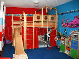 Image of: Double Bunk Bed with Slide