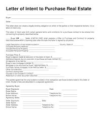 Letter Of Intent To Purchase Real Estate Template Best Photos of Blank Letter Of Intent Form Letter of Intent to 1