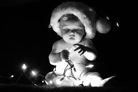 Baby Pics With Christmas Lights Cute Baby Christmas Photo With Christmas Lights Baby