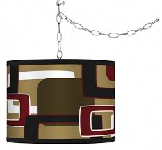 swag style cola reteo rectangles shade plug in chandelier f9542 h0898