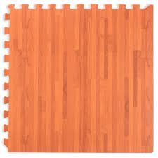 we mats forest floor gany wood grain interlocking foam anti fatigue flooring 2 x2 tiles borders in sports fitness outdoors