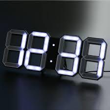 Futuristic Clock Digital Led Clock White White Kibardindesign Touch Of Modern