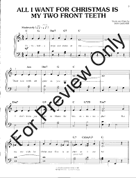 all i want for christmas is my two front teeth sheet music first 50 christmas songs you should play on the p j w pepper