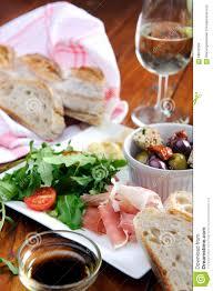 Italian Table Setting Rustic Table Setting With Food Stock Photo Image 58042559