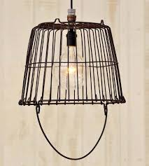 decor of basket pendant light to interior