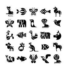 Animal Icon Black And White Animal Icon Set Vector On Vectorstock In