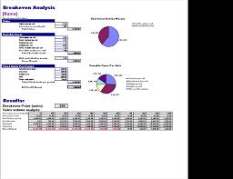 Break Even Template Breakeven Cost Analysis