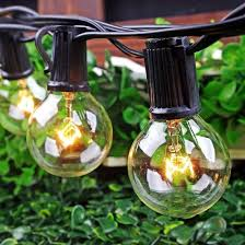 Where To Buy String Lights Boutique Window 50ft Globe String Lights With 52 Clear Bulbs Bulb String Lights For Indoor Outdoor Commercial Use Black Wire