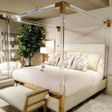 Modern hotel Bedroom furniture Crystal acrylic bed frame king size bed frame