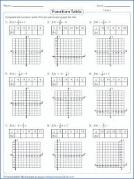 function table worksheets answers worksheet graphing linear answer key algebra 1