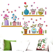 erfly wall stickers cute cartoon flower erfly wall stickers decal window glass wall decor home decoration