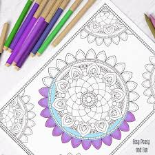 Mandala Coloring Page Coloring For Adults Easy Peasy And Fun