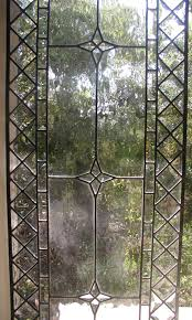 geometric beveled and clear water glass windows