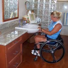 handicapped accessible bathroom sink counter. space options project: residential accessible bathroom, sink with wheelchair access handicapped bathroom counter a