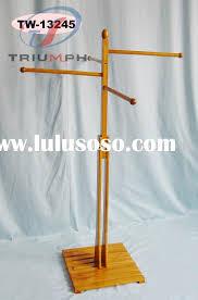 outdoor wooden towel rack tw 13245
