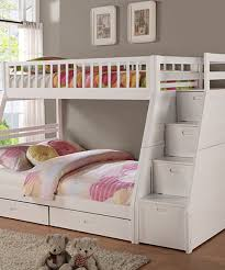 Another great find on #zulily! White Twin Over Full Staircase Bunk ...