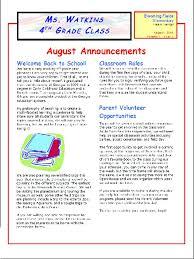 classroom rules template class newsletter template elementary classroom newsletter template