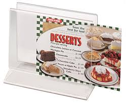 Cheesecake Display Stands Restaurant Menu Display Sign Holder Menu Container 85