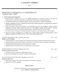 Resume Sample For Production Manager Food Production Supervisor