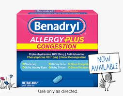 Benadryl D Dosage Chart Allergy Itch Relief Medicine For Adults Children Benadryl