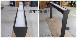 Diy sofa table 30 Diy Skinny Sofa Table What Rose Knows Diy Skinny Sofa Table What Rose Knows