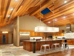 large size of recessed lighting vaulted ceiling kitchen gorgeous modern chalet with wooden design idea lights