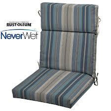 allen roth stripe blue stripe blue stripe high back patio chair cushion for high