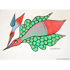 Small Picture Buy Gond Painting Mother Bird And Chicken Home Decor Indian