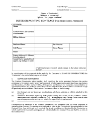 painting contracts templates painting contractor forms fill online printable fillable blank