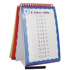 Wipe Clean Timestable Practice Flip Chart Educational Toys And Educational Games At The Works