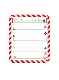 Blank Christmas List Wish List For Christmas Edit Fill Sign Online Handypdf
