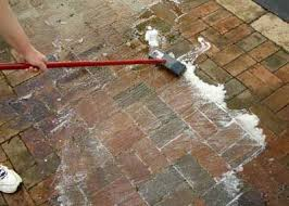 to clean outdoor brick and other pavers