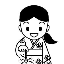 線香花火をする女児のイラスト 無料イラスト素材素材ラボ