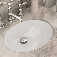 Bathroom sink Granite Decolav Carlyn Classically Redefined Ceramic Oval Undermount Bathroom Sink With Overflow Reviews Wayfair Wayfair Decolav Carlyn Classically Redefined Ceramic Oval Undermount