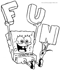 spongebob color page cartoon characters coloring pages
