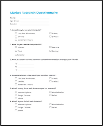 Template Questionnaire Word Questionnaire Template Word 11 Free Word Document Downloads