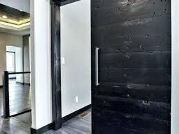 metal sliding doors solid modern dark wood ebony reclaimed wood sliding door with brush metal hardware