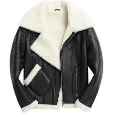 2019 euro men runway motor biker genuine leather jacket real fur lining shearling winter boyfriend punk coat lapel collar streetwear from yujiu