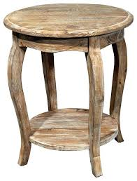 rustic side table reclaimed round end driftwood farmhouse diy made from free pallets